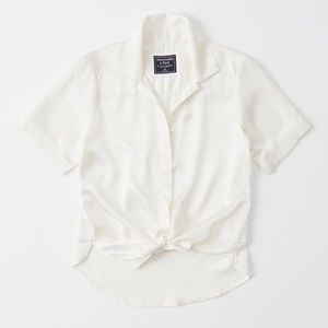 Abercrombie & Fitch satin shirt